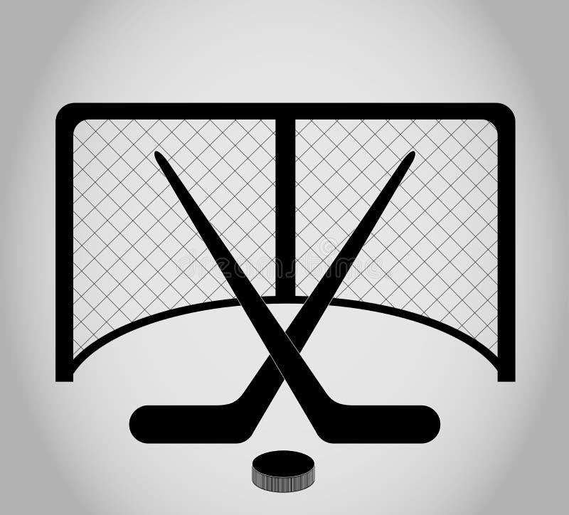 Wintersportenpictogram Het ontwerp van de ijshockeypoort vector illustratie