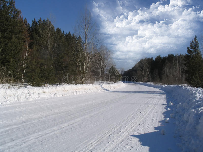 Winterstraße stockfotos