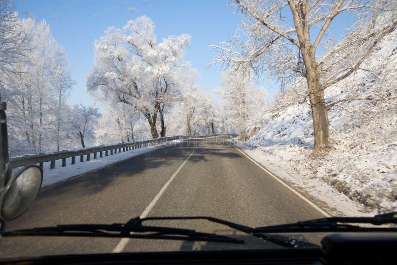 Winterstraßen stockfotografie