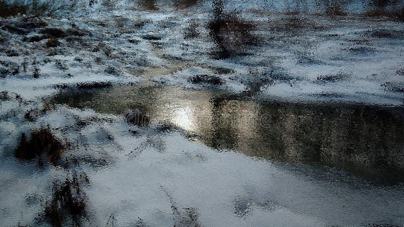 Winterstrom, Kunst, Bach, Schnee stockbilder