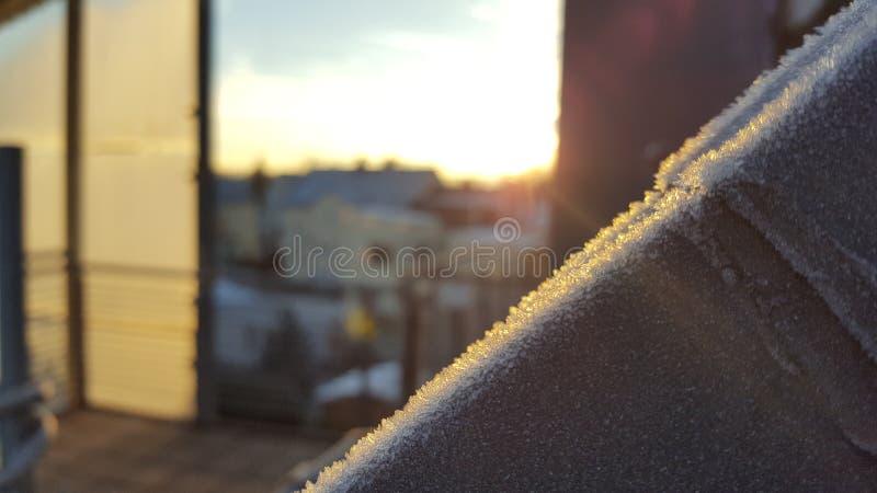 Wintersunset стоковое изображение