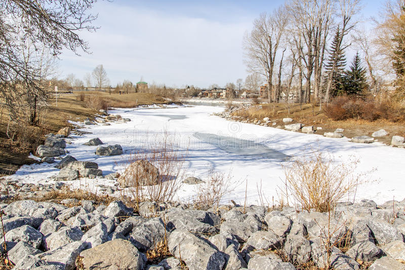 Winterszene in Kanada lizenzfreie stockbilder