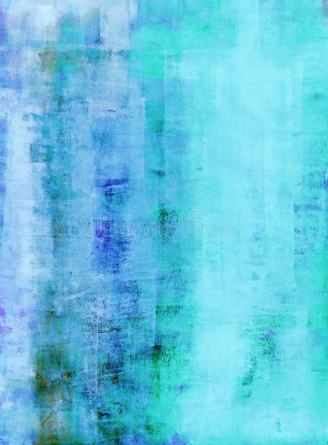 Wintertaling en Blauw Abstract Art Painting royalty-vrije stock fotografie
