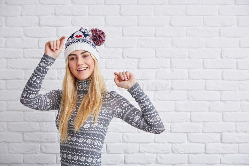 Wintertanz lizenzfreie stockbilder
