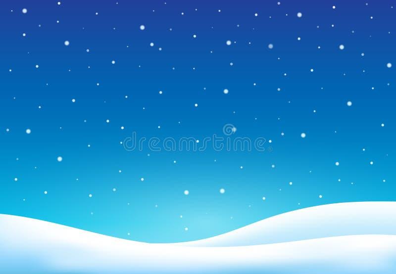 Winterthemahintergrund 7 lizenzfreie abbildung