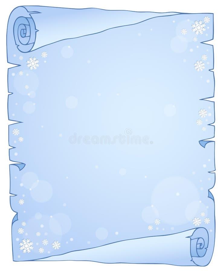 Winterthemapergament 1 lizenzfreie abbildung