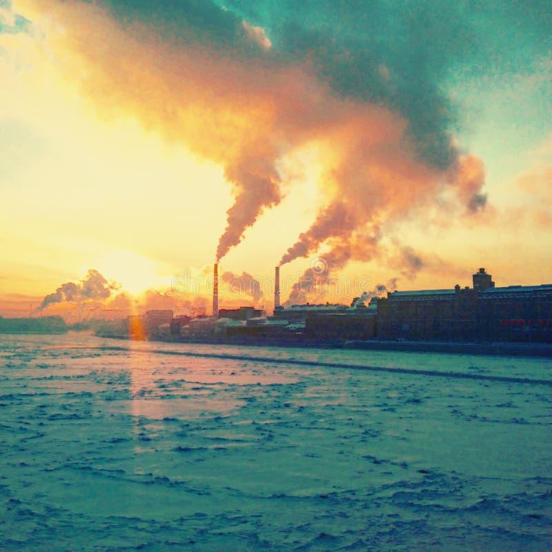 Wintertijd in heilige-Petersburg royalty-vrije stock foto's