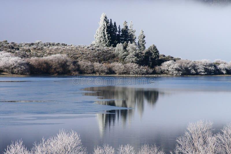 Wintertijd in Nieuw Zeeland royalty-vrije stock afbeeldingen