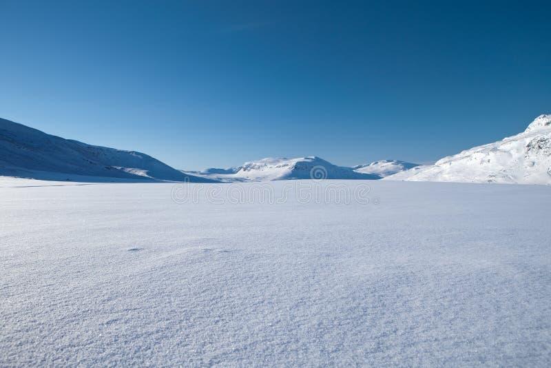 Wintertijd op Kungsleden stock foto
