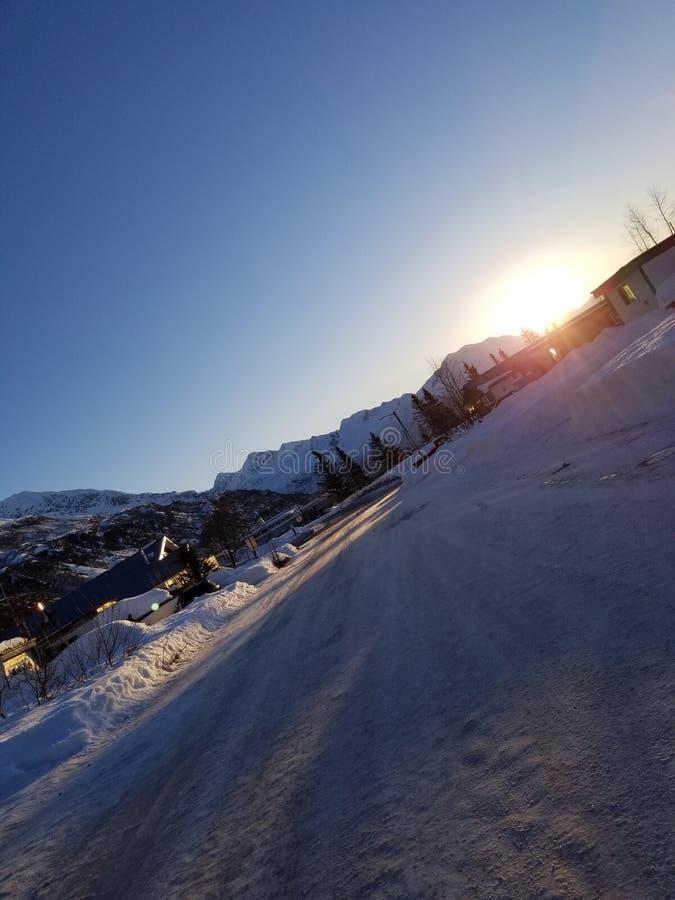 Wintertime Аляски стоковая фотография rf