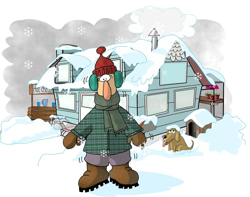 wintertime vektor illustrationer