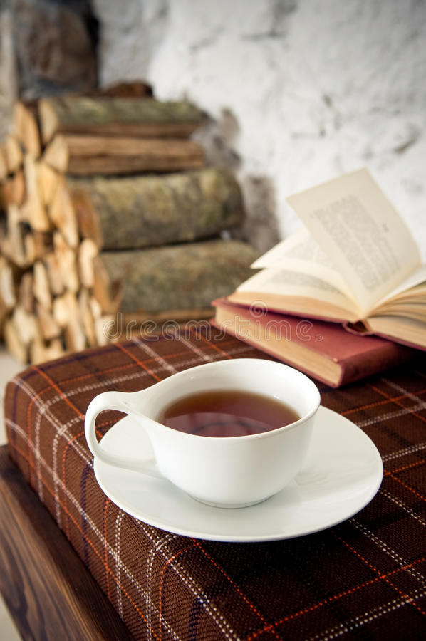 Wintertime tea royalty free stock images