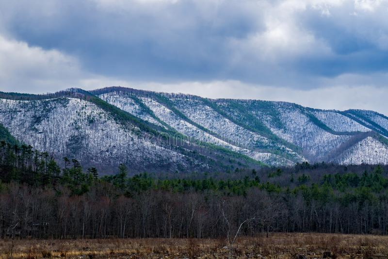 Wintertime on the Patterson Mountain. Wintertime view of the Patterson Mountain located in Botetourt County, Virginia, USA royalty free stock photo
