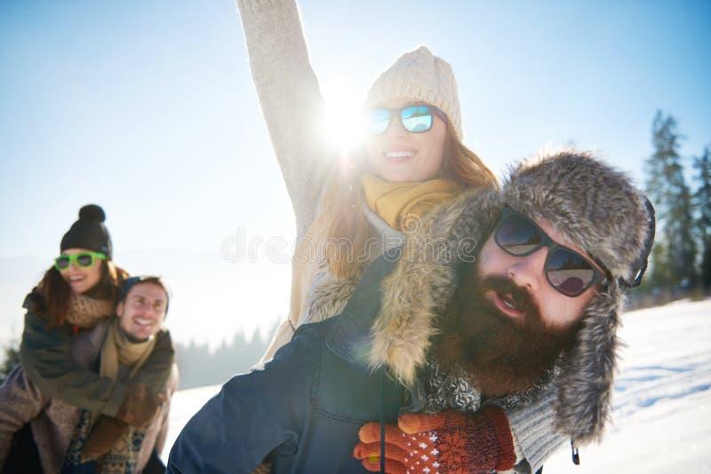 Winterurlaub stockfoto