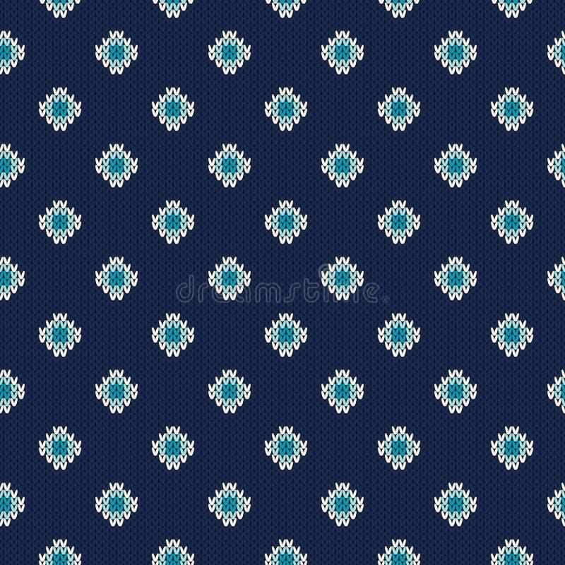 Winterurlaub-nahtloses gestricktes Muster Nordisches Strickjacken-Design stock abbildung