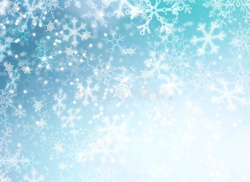 Winterurlaub-Schnee-Hintergrund lizenzfreie stockbilder