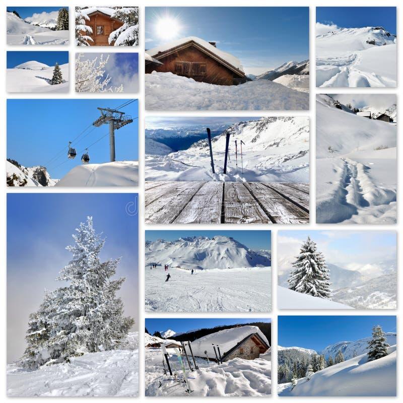 Winterurlaubcollage lizenzfreie stockfotografie