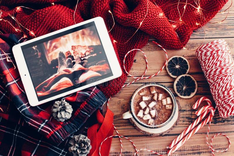 Winterurlaubdekor stockfoto