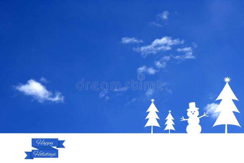 Winterurlaube lizenzfreie abbildung
