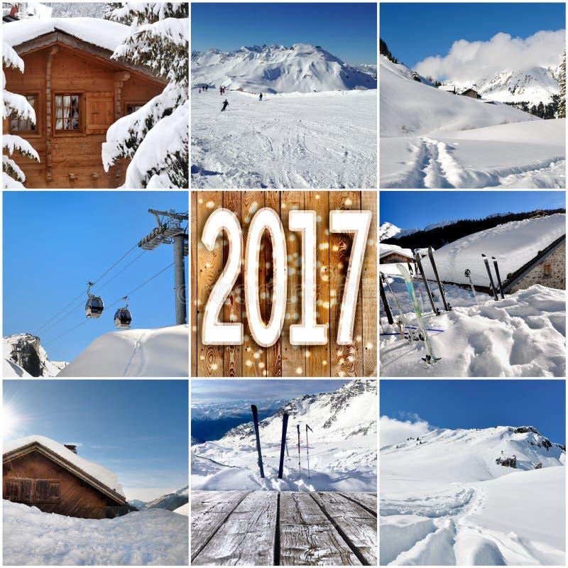 Winterurlaube 2017 lizenzfreie stockbilder