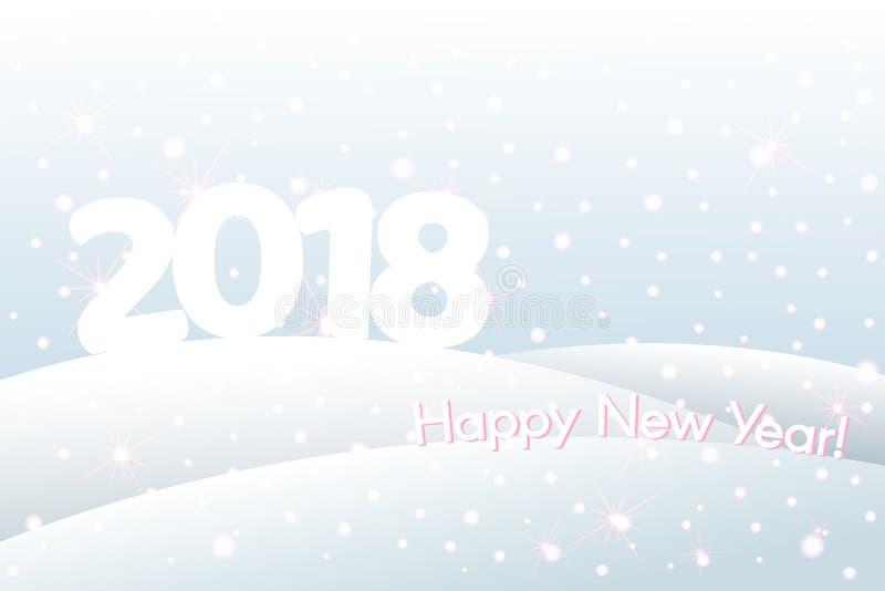 Winterurlaubhintergrund mit Text 2018 neuem Jahr und Weihnachten vektor abbildung