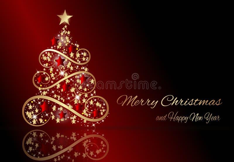 Wintervakantie rood malplaatje met Kerstmis royalty-vrije illustratie