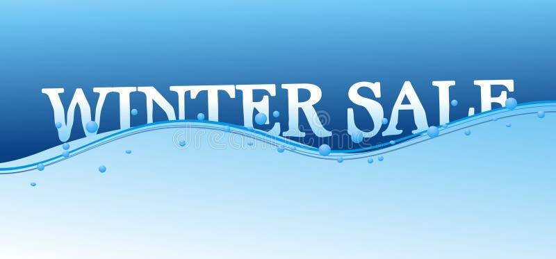Winterverkauf lizenzfreie abbildung
