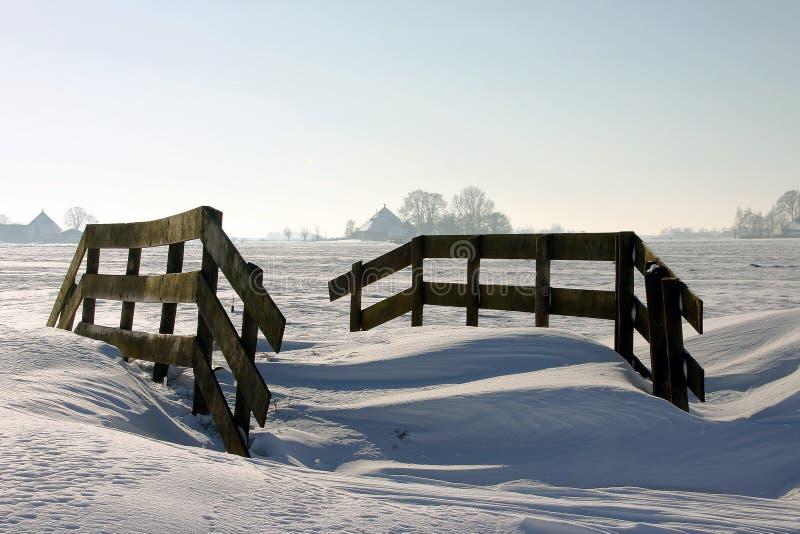 Winterview nos Países Baixos foto de stock