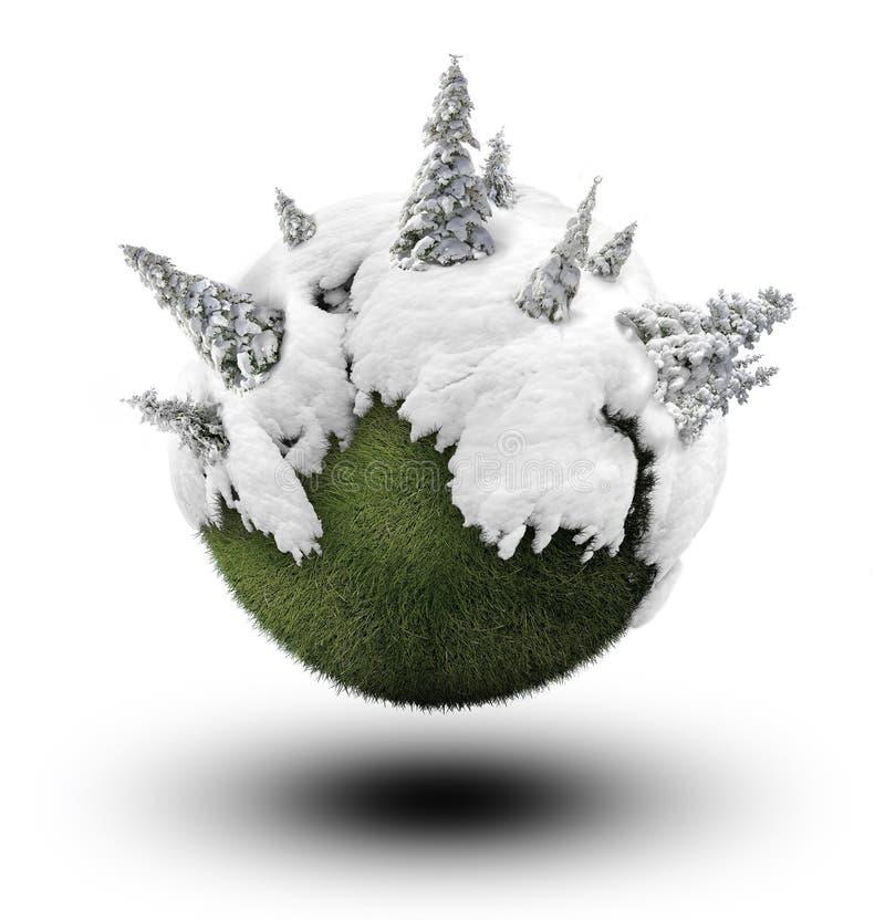 Winterwald lizenzfreie abbildung