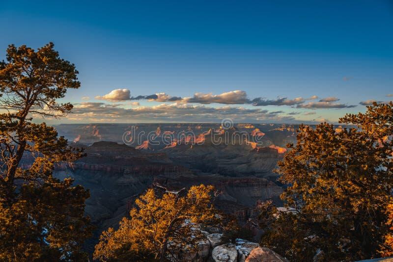 Winterweergave in het Nationaal Park stock fotografie
