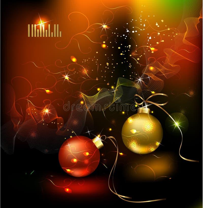 Winterweihnachtskarte lizenzfreie abbildung