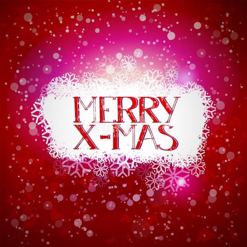 Winterwolke mit fröhlichem Weihnachten vektor abbildung
