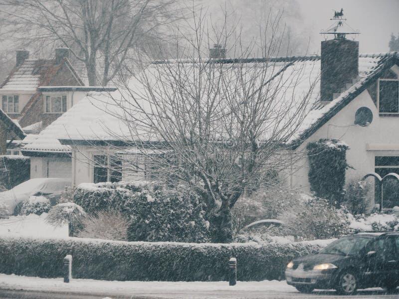 Winterwonderland de la nieve del invierno fotos de archivo libres de regalías