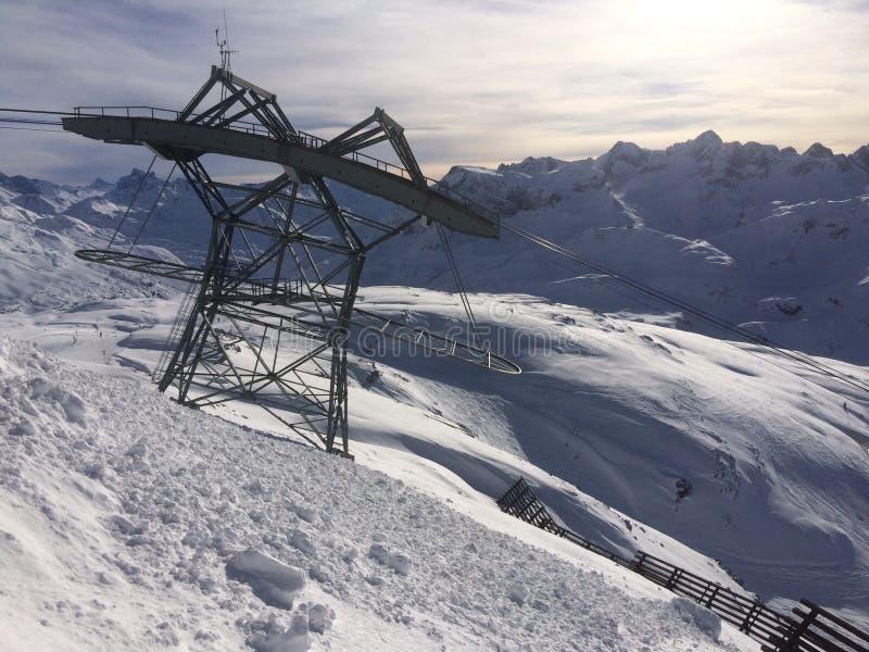 Winterwonderland lech Tirol Austria zdjęcia stock