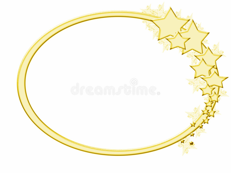 Download Wintery Gold Star Frame stock illustration. Illustration of border - 3134783