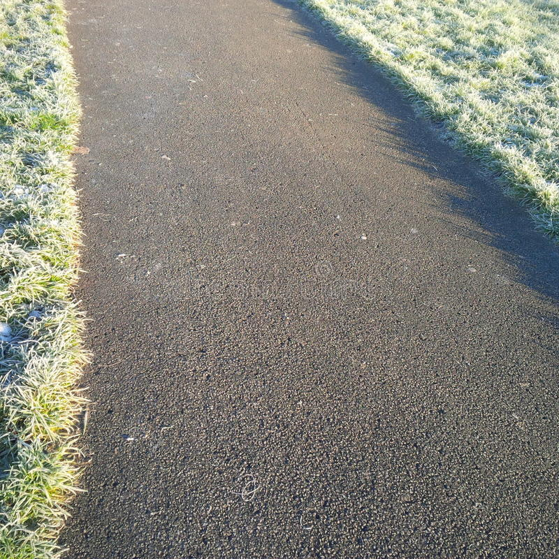 Wintery pathway stock images