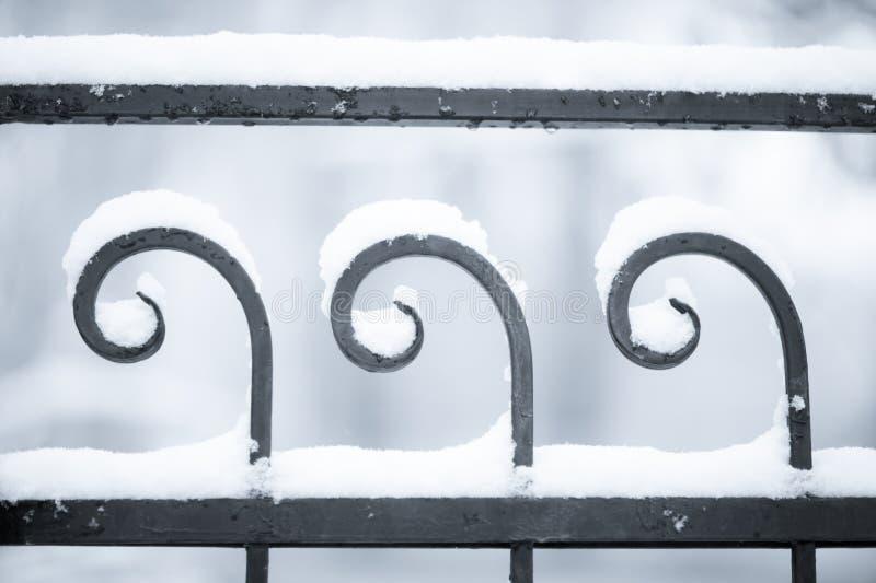Winterzaun stockbild