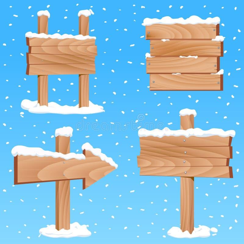 Winterzeichenvektor lizenzfreie abbildung