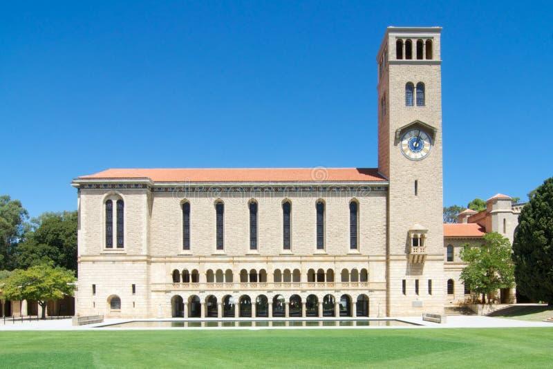 Winthrop Hall et université de tour d'horloge d'Australie occidentale photo libre de droits