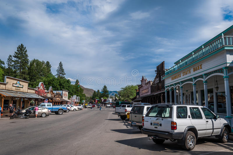 Winthrop Main Street photo stock