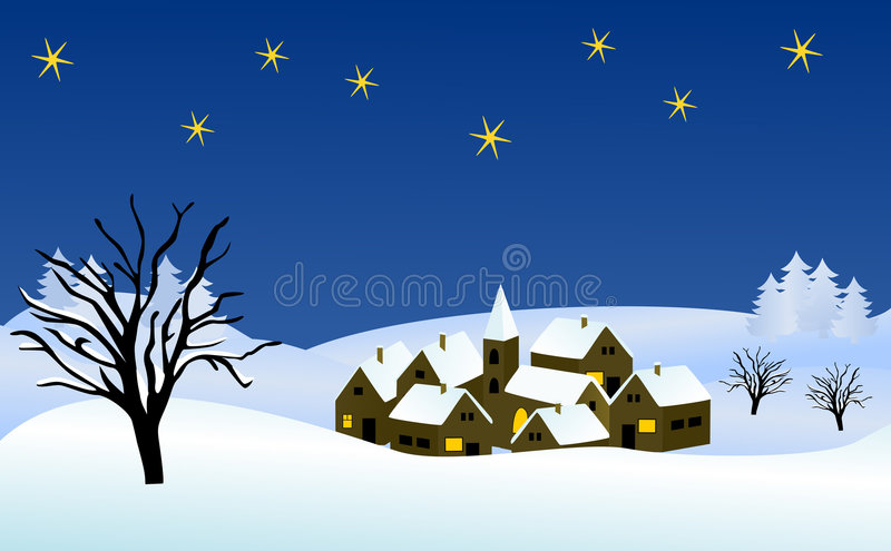 Wintry Christmas Illustration Royalty Free Stock Photography