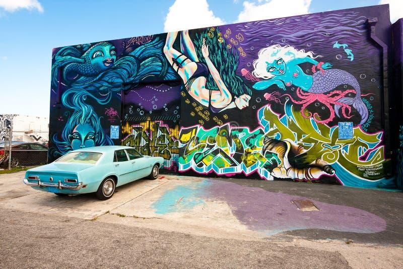 Winwood Miami, USA royaltyfria foton