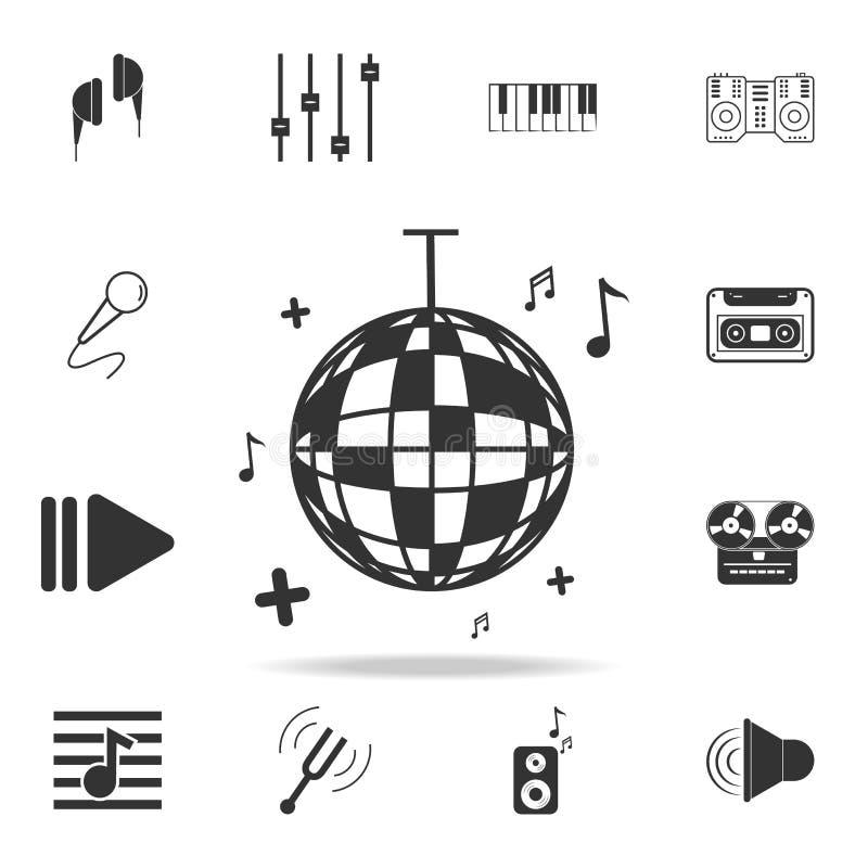 winylowa LP rejestru ikona Szczegółowe ustalone ikony Muzycznego instrumentu elementu ikony Premii ilości graficzny projekt Jeden royalty ilustracja