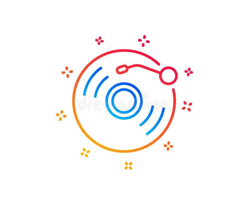 Winylowego rejestru linii ikona Muzyka znak wektor ilustracja wektor
