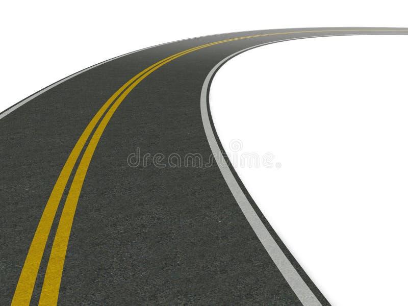 wiodący drogowy zwrot royalty ilustracja