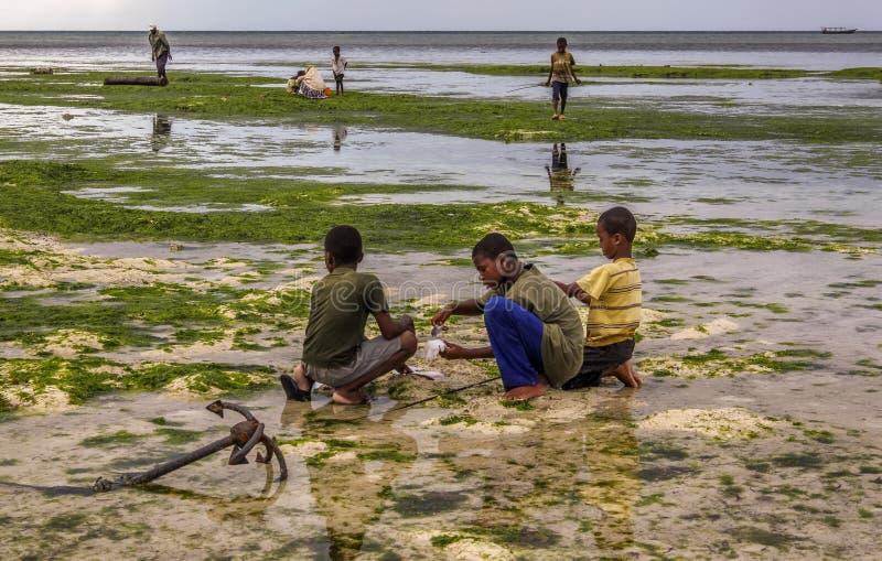 Wiosek dzieci Zanzibar obrazy royalty free