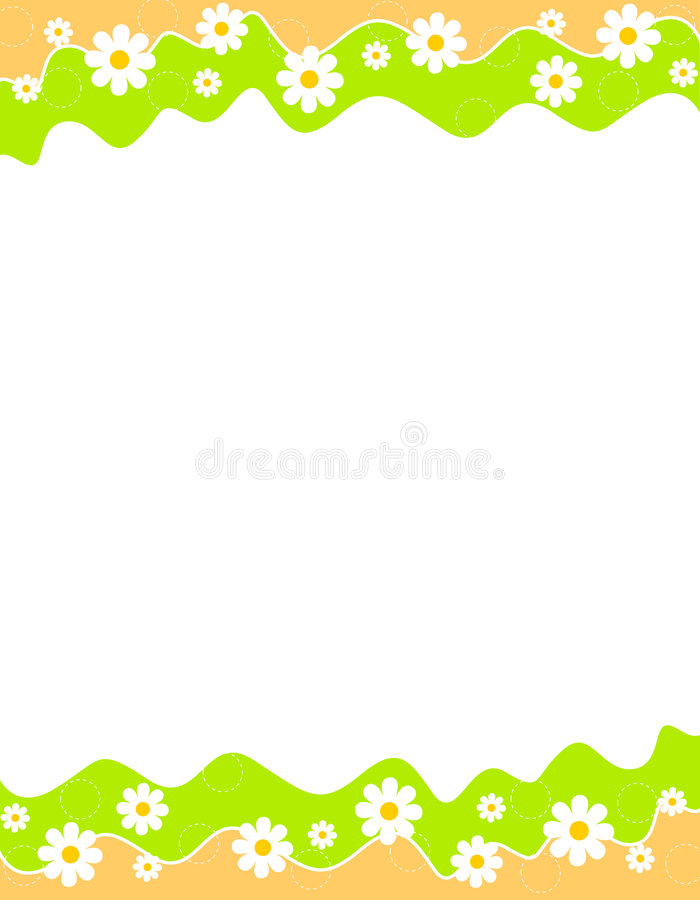 wiosenne kwiecista granic suma ilustracji