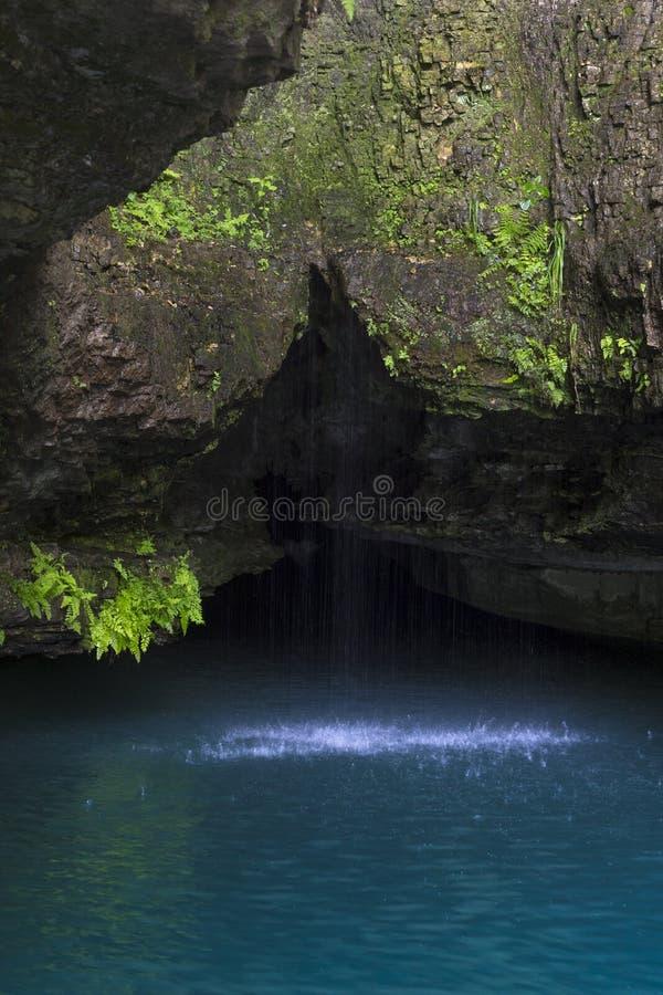 wiosenne naturalnej wodospadu obraz royalty free