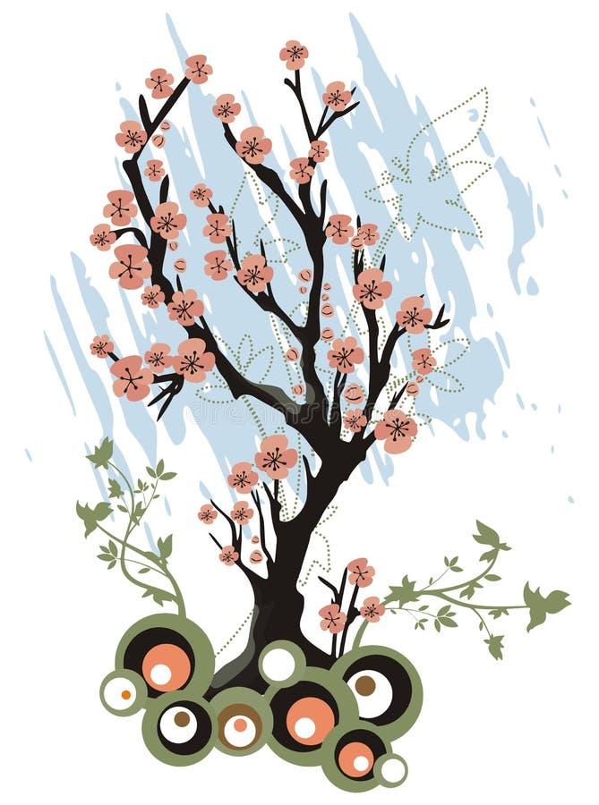 wiosenne tła drzewo royalty ilustracja