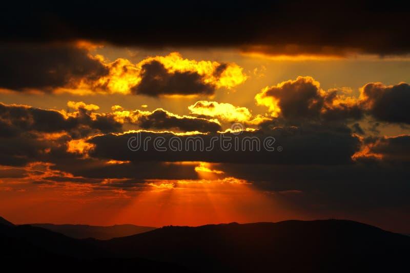 wiosenny zachód słońca sezonu zdjęcie stock